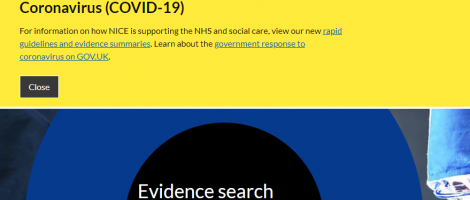 NHS Evidence Screenshot Image