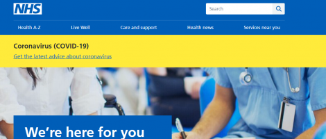 NHS Website Screenshot Image