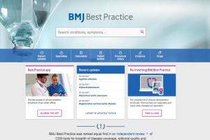 BMJ Best Practice site screenshot
