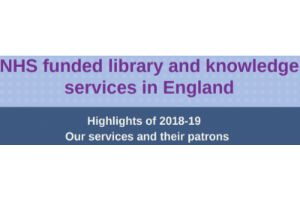 NHS Funded library and knowledge services in England highlights of 2018-19 our services image