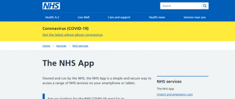 NHS App Screenshot Image