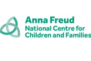 Ana Freud National Centre of Children and Families in green letters on white background makes up this logo