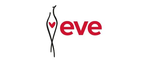 eve logostylized female form with heart at waist