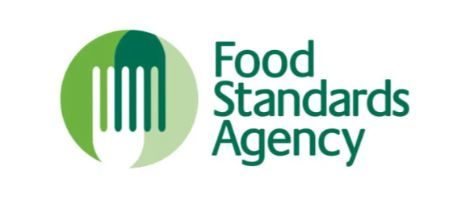 Food Standards Agency in green letters with gaphic of green eating fork make up this logo