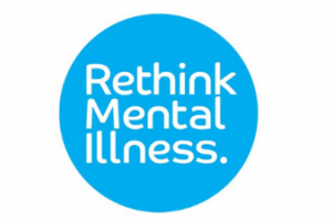 rethink mental illness white letters on blue circle make up this logo