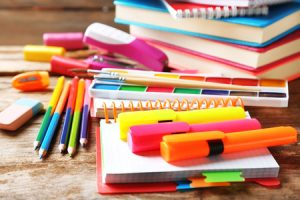 bright pens and paper to for new school term