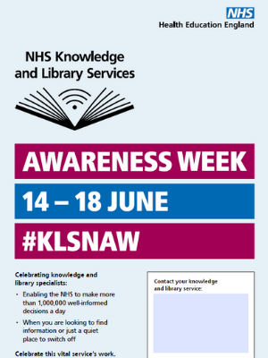knowledge and library services awareness week poster